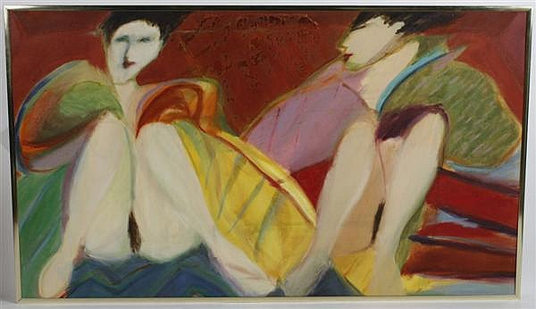 LISE APATOFF (1954- ) OIL ON CANVAS - Signed on reverse. Titled
