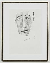 JAY STEENSMA (1941-1994, WA) GRAPHITE DRAWING - Signed drawing on paper of a man. Condition good. Dated 1993. 14
