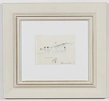 JAY STEENSMA (1941-1994, WA) PENCIL DRAWING - Signed drawing on paper of a landscape. Condition good. Dated 1986. 11
