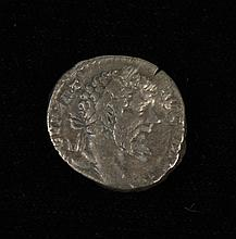 ANCIENT ROMAN SILVER DENARIUS COIN - Septimius Severus 193-211 AD; Rome mint 198 AD. L SEPT SEV PERT AVG IMP X - Laureate head right...
