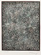 MARK TOBEY (1890-1976, WA) SIGNED AQUATINT ON PAPER - Abstract in earth tones, pencil signed and numbered 92/100, titled
