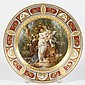 ROYAL VIENNA PORCELAIN PLATE - Depicting