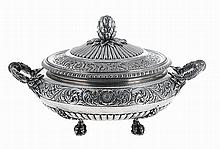 Portuguese silver tureen and cover, 20th century.