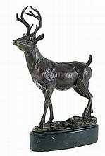 Deer, bronze sculpture.