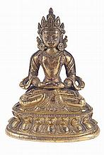 Gilt bronze figure of Buddah.