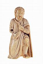 St. Joseph, 17th century, ivory sculpture from Sri Lanka.