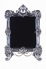Portuguese silver table mirror frame, 20th century.