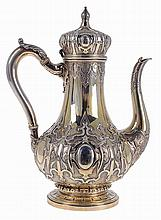 English silver, coffee pot.
