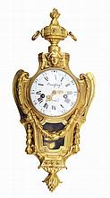 French gilt bronze wall clock, by Jarossay A. Paris