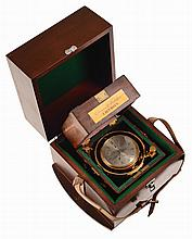 Parkinson & Frodsham Marine Chronometer, Change Alley, London, 2629.In the original box also numbered 2629 plus an outer box.