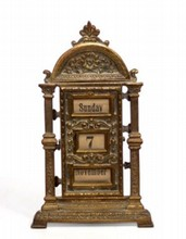 ANTIQUE GILT BRONZE ORNATE DESK CALANDER