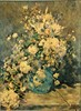 RENOIR PRINT ON CANVAS OF FLOWERS IN A VASE