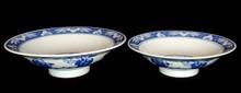 2 CHINESE JINGDEZHEN BLUE & WHITE PORCELAIN BOWLS