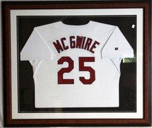 MCGWIRE AUTOGRAPHED FRAMED HOME JERSEY