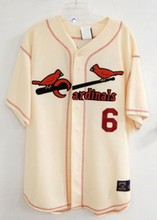 STAN MUSIAL AUTOGRAPHED CARDINALS JERSEY