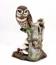 BOEHM PEARCHED OWL FIGURINE LIMITE EDITION
