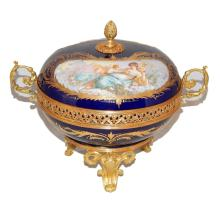 EARLY 19th C LOUIS PHILIPPE SEVRES PORCELAIN BOX