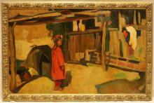OIL ON BOARD GIRL ARMENIAN RUSSIAN ATTR SARYAN