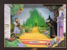 WIZARD OF OZ 3D MIXED MEDIA CELL IN MUSICAL FRAME