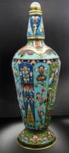 RUSSIAN SILVER ENAMEL PERFUME BOTTLE