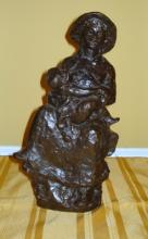 PIERRE-AUGUSTE RENOIR BRONZE 'MOTHER AND CHILD'