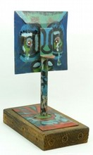 TYRONE ERROL APPOLLIS MIXED MEDIA SCULPTURE