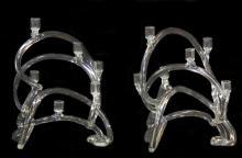Pr. EVA SCHONFIELD ABSTRACT GLASS CANDLESTICKS