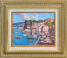 OIL PAINTING ON BOARD OF MONTE CARLO SCENE