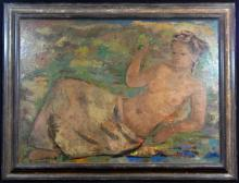 MAGERITA OSSWALD TOPPI OIL OF BOARD OF NUDE FEMALE