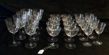 26 TIFFANY STUDIO CUT GLASS 'STAR' STEMWARE PIECES