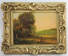 MARY ELIZAETH KING LANDSCAPE OIL PAINTING ON BOARD