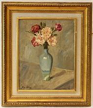 MID 20th CENTURY STILL LIFE OIL PAINTING ON CANVAS