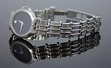 MOVADO 'AVISO' LADIES STAINLESS STEEL WRIST WATCH