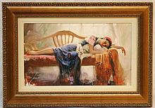 PINO ORIGINAL GICLEE EDITION ON CANVAS 'AT REST'