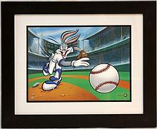 WARNER BORTHERS 'FASBALL BUGS' GICLEE ON PAPER