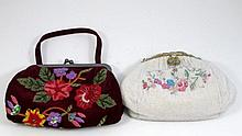 LOT OF 2 LADIES DESIGNER FLORAL PURSES