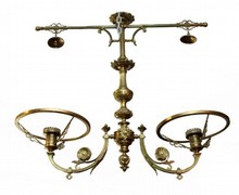 DORE BRONZE CELING LAMPS & SCONCE w GLASS SHADES