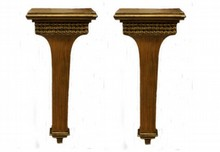 A PAIR OF DECO GILT WOOD WALL SCONCE SHELVES
