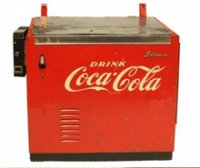10 CENT VINTAGE IDEAL COCA-COLA COOLER
