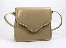 JUDITH LEIBER BROWN LEATHER HANDBAG PURSE