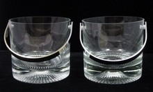 (2) PIPPI CLEAR CRYSTAL ICE BUCKETS BY: KOSTA BODA