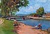Géza Zórád (Hungarian, 1880 k. - 1960 k.), Riverbank