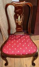 Queen Anne style upholstered slip seat DR chair
