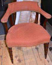 Directoire style upholstered arm chair