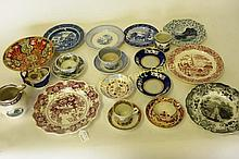 Group English Porcelain Plates Bowls