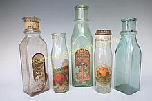 Five Early Pickle Jars