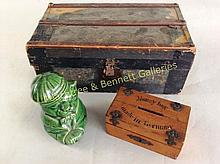 Victorian Toy Trunk with Two Toy Banks