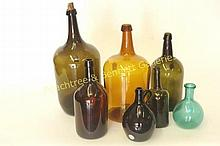 Seven Early American Bottles