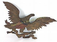 American Bronze Polychrome Painted Firehouse Eagle