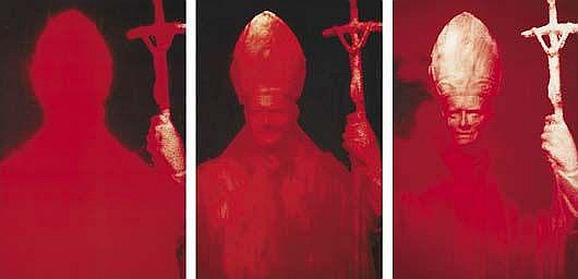 Contemporary Art: ANDRES SERRANO Red Pope I-III,